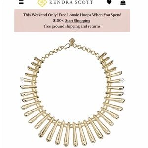 Kendra Scott Jill Statement Necklace in Gold